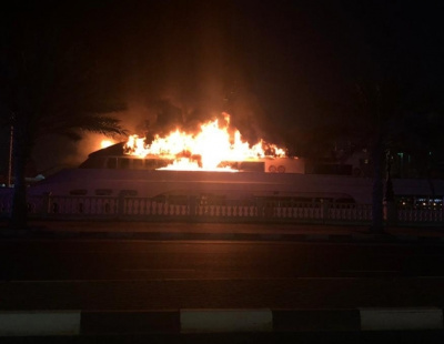 Video: UAE yacht goes up in flames