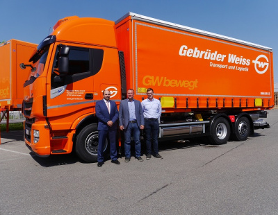Gebrüder Weiss introduces gas-powered truck