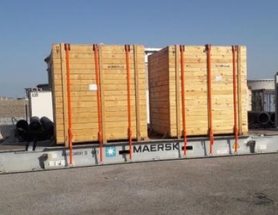 Actitrans transport electrical parts and power generator to Egypt