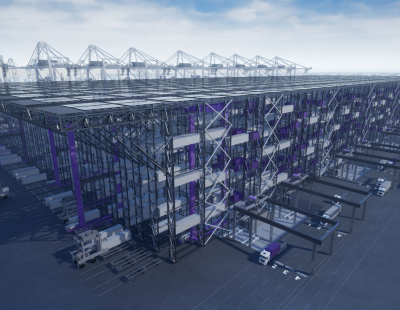 Video: DP World's BoxBay high bay storage system for shipping containers