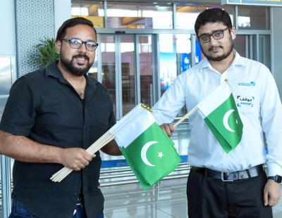 Pakistan and India Independence Days celebrated at Abu Dhabi International Airport