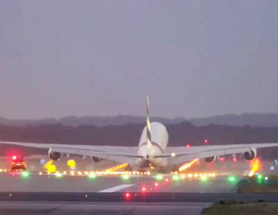 Emirates tweets video of car chasing A380 down the runway