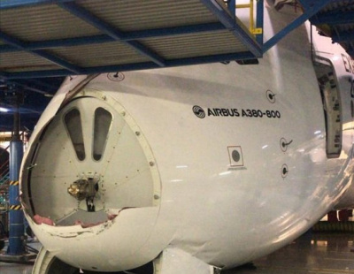 Emirates A380 badly damaged during maintenance