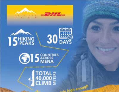 DHL teams up with first woman to climb 15 of highest peaks in MENA region in 30 days