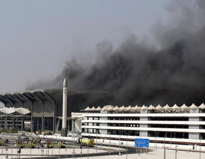 Injuries reported as fire engulfs Saudi high-speed train station