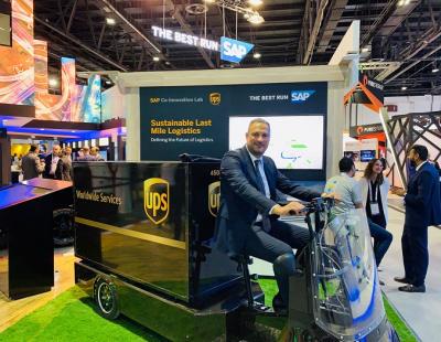 SAP showcases UPS electric bike tech at GITEX