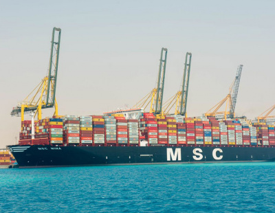One of world's largest container ships docks in Saudi Arabia