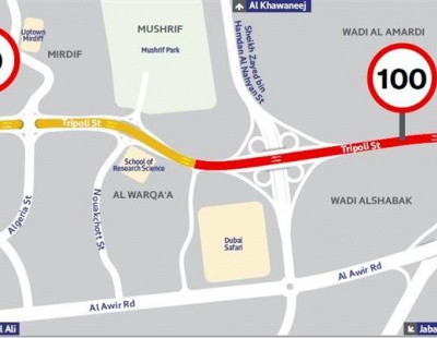 Speed limit to be raised on key Dubai road
