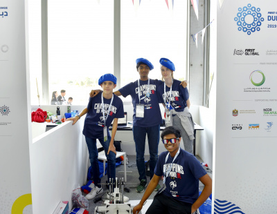 French robotics students in Dubai present answer to logistics of ocean plastic clean-up