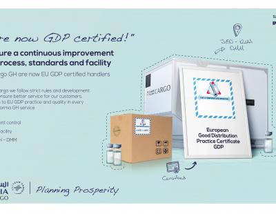 Big win for Saudia Cargo as pharma EU GDP certificate issued