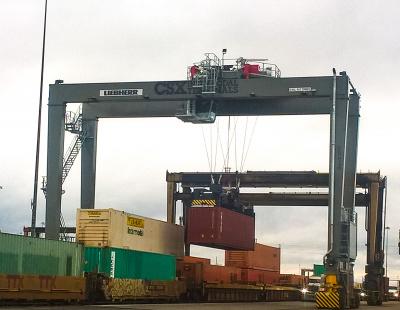 Liebherr Container Cranes Ltd. delivers three RTGs to CSX Intermodal Terminals