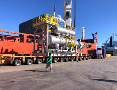 Muscat International Shipping transports three skids
