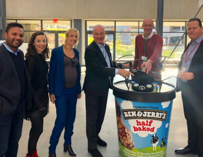 Terra Drone Europe and British-Dutch transnational consumer goods giant Unilever collaborate to deliver ice cream in New York
