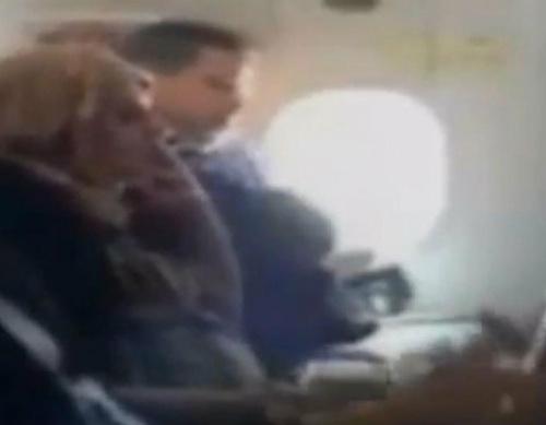 WATCH: Passenger smokes on flight, despite warnings