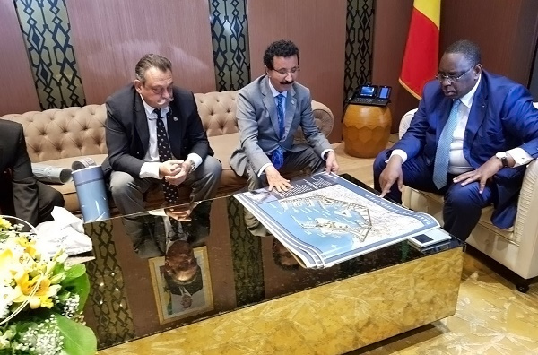 Bin Sulayem met with Senegalese President Macky Sall this week to discuss the plan for Port Du Futur with construction to start before the end of 2018.