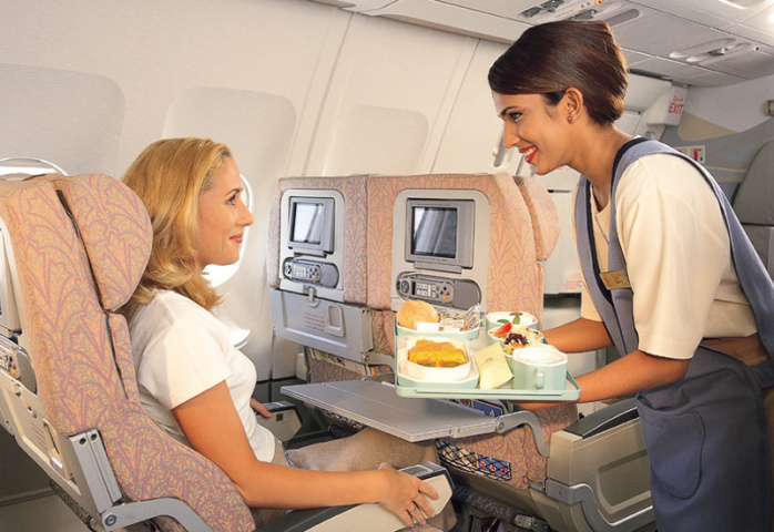 The punters seem to like the food on Emirates.
