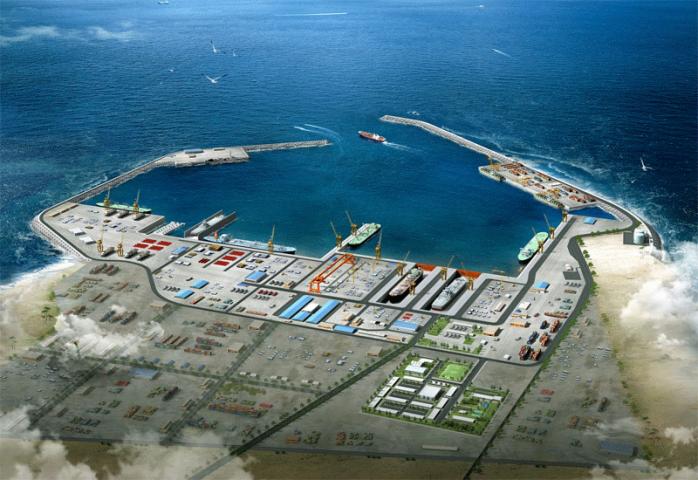 Liquid bulk berth terminal at Duqm Port, Oman