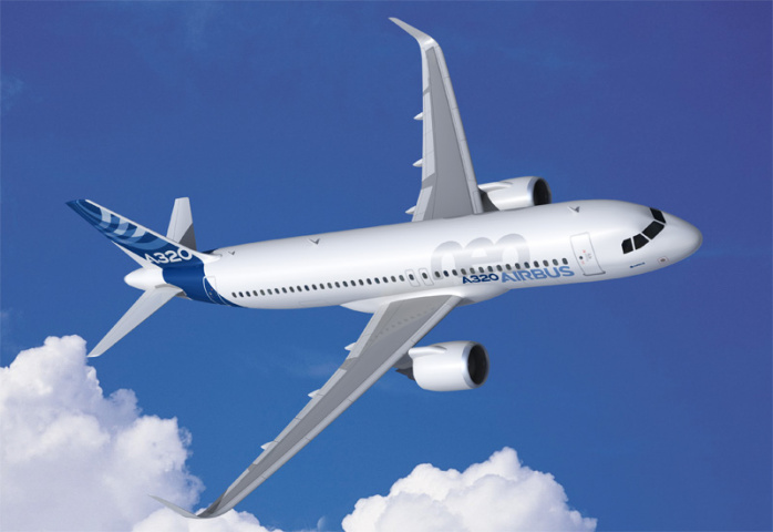 Airlines have placed orders for several hundred units of the A320neo this week.