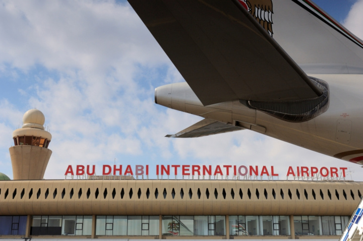 All flights at Abu Dhabi International have been suspended until further notice due to severe weather conditions.