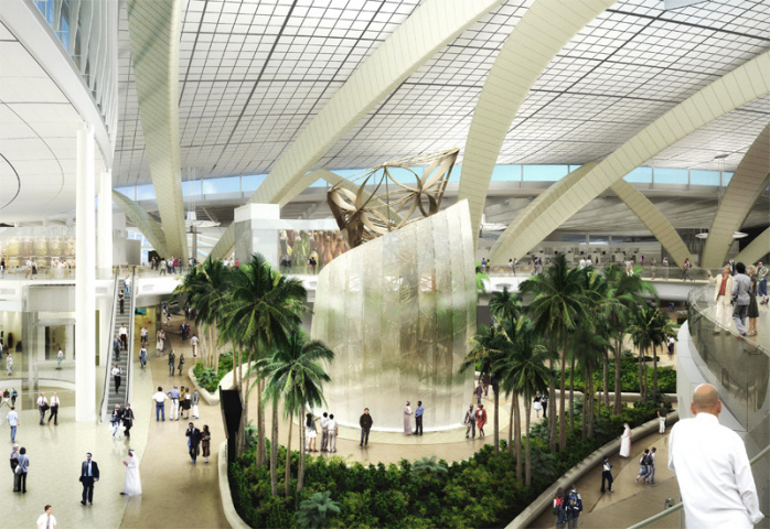 An image of Abu Dhabi's planned new passenger terminal.