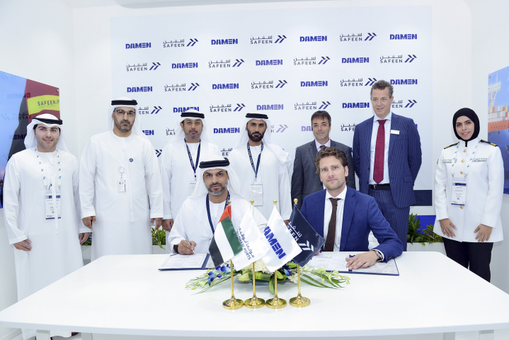 The new tug boats - with a bollard pull of 30 tonnes - will service both Musaffah and Zayed Ports and will be built by Sanmar Shipyards and Damen.