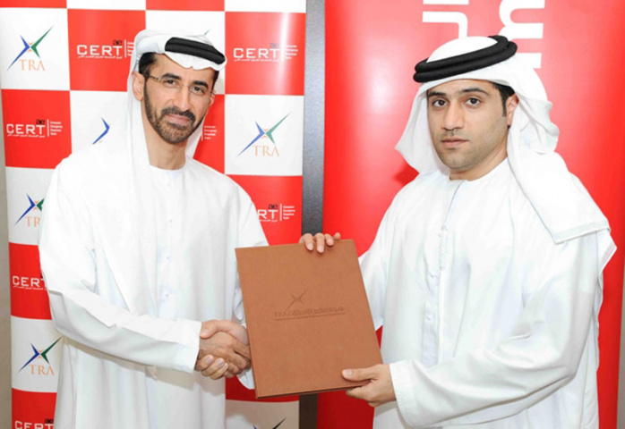 Air Arabia and TRA representatives signing the MoU