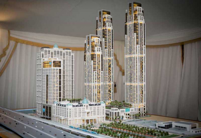 A model of the planned Al Habtoor City.
