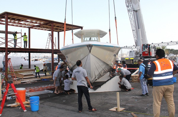 Al Naboodah Cargo Centre handled the shipping and logistics required in getting over 430 boats on show at the event.