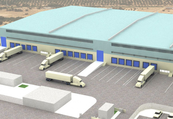 An artists impression of Kuehne & Nagel's new warehouse