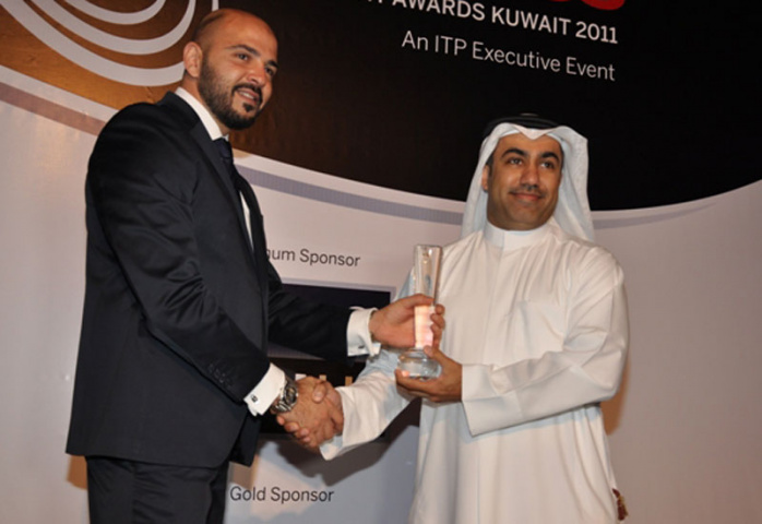 Dakheel Al Dakheel, Agility's director of sales for the Middle East and Africa, accepting the award