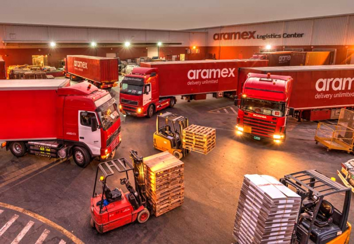 Aramex reported a 5 per cent fall in first-quarter net profit on Sunday.