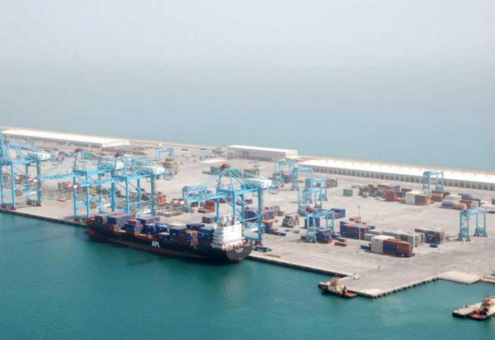 The 2500-TEU APL Dalian, the first vessel to visit the Bahrain Gateway port.