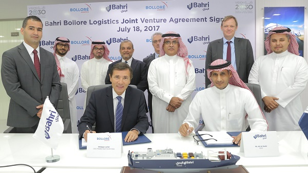 The agreement marks another step of Bahri's and Bolloré Logistics' expansion into the fast-growing logistics and supply chain management market within the GCC.