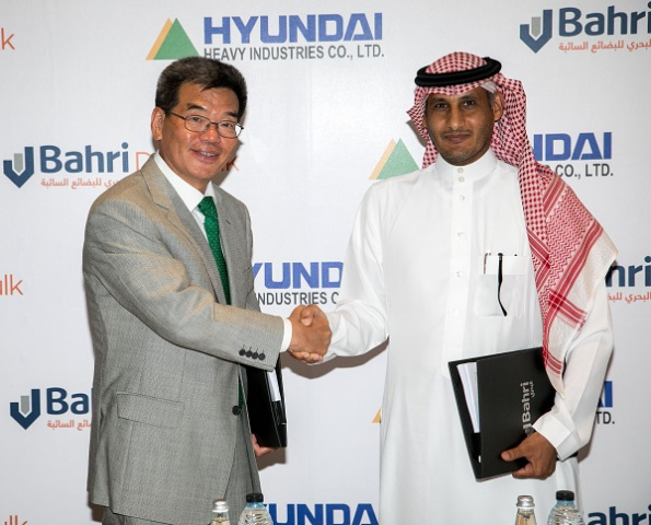 The agreement was signed in Dubai, UAE, in the presence of Ali Al-Harbi, acting CEO of Bahri, Nezar Banabeela, president, Bahri Dry Bulk, Sam. H. Ka, president & COO, Hyundai Heavy Industries (HHI) Group, in addition to other executives from both companies.