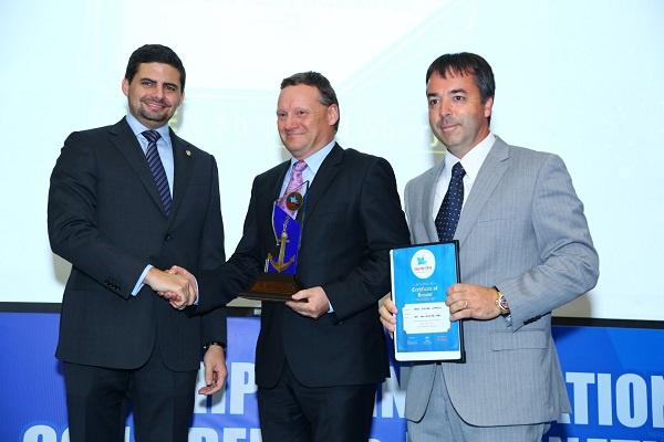 Jayadev.S  (COO Aries Group Global), Lars Seistrup (General Manager, Damen Shipyards Sharjah), Willem Moelker (Head of Sales & Marketing, Damen Shipyards Sharjah)