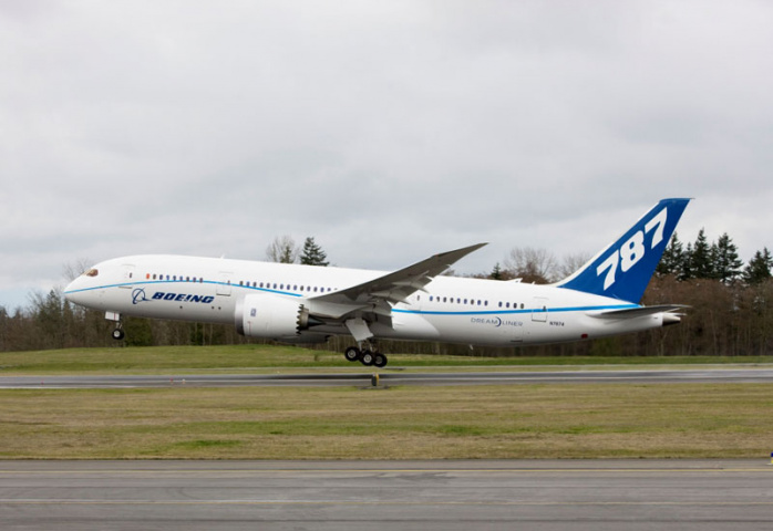 The 787 is late, but should be ready for delivery this year.