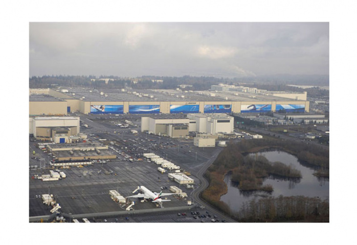 Boeing?s largest assembly building in Everett, Washington covers 13.3 million m3.