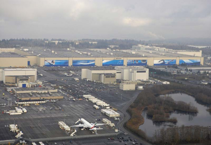 A multitude of problems are causing concern at Boeing's Everett HQ. Courtesy of Boeing.