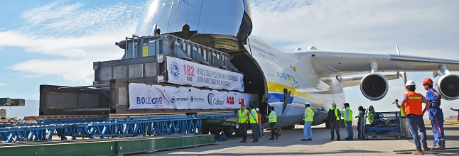 The projects teams at Bolloré Logistics Chile handled the transportation of a 155-ton transformer from São Paulo, Brazil, to Santiago, Chile, using the Antonov An-225.