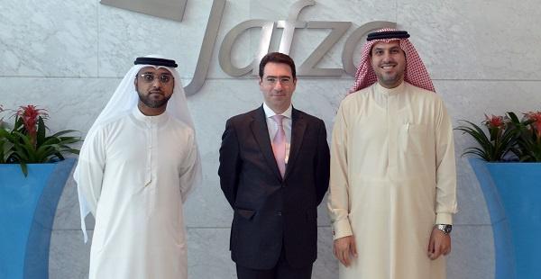 HE Fayhan Al Fayez Shalhoub, Ambassador of Republic of Colombia in the UAE ?with Adil Al Zarooni, SVP-Sales, Jafza and Mohammad Ali Al Kamali, Deputy