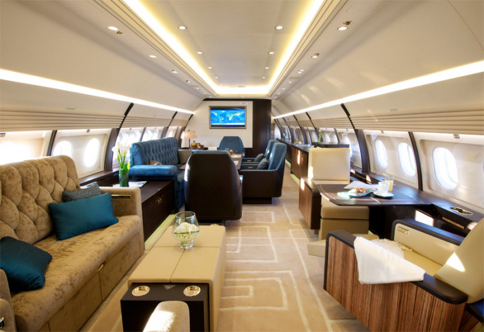 The VVIP interior of Comlux's A320 Prestige.