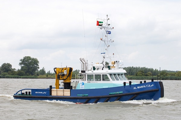 Abu Dhabi Petroleum Ports Operating Company (IRSHAD) has taken delivery of a Damen Shoalbuster 2308.