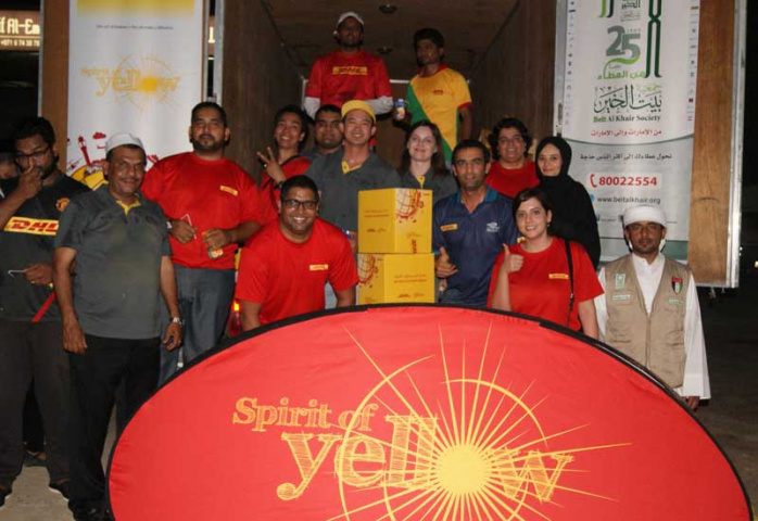 DHL staff during the donation drive.