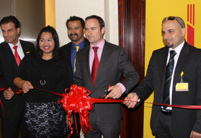 From Left Mohd Omar (Territory manager), Gail T. Pantig (HR Manager), Christopher Almeida (IT Manager), Daniel Kearvell (Country Manager), Waleed Omar