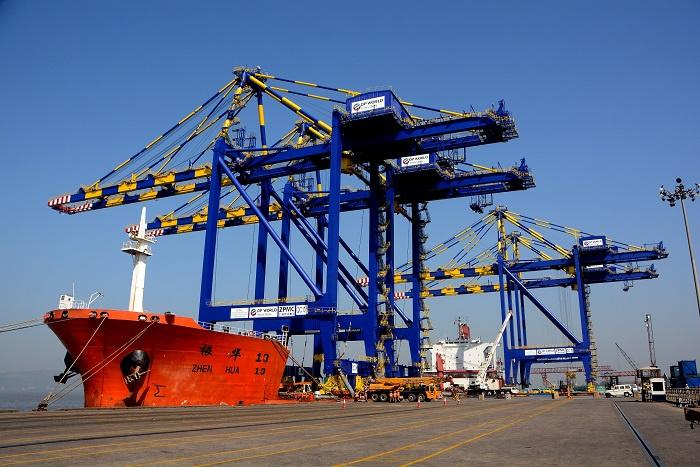 DP World operates terminals in Gujarat (Mundra), Maharashtra (Nhava Sheva - Pictured), Kerala (Cochin), Tamil Nadu (Chennai) and Andhra Pradesh (Visak