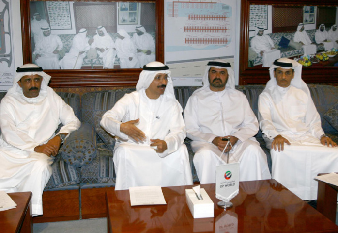 L to R HE Brigadier Mohammed Saeed Al Marri, chairman, Dubai Fishermen's Co-operative Association, with DP World's chairman, SVP and assisting MD