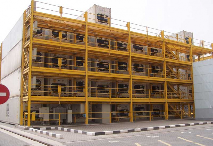 The newly installed REFCON system at DP World's Jebel Ali port.