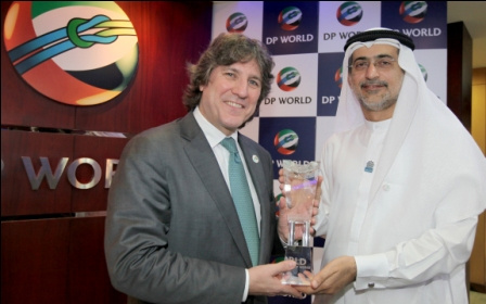 Amado Boudou with Mohammed Sharaf.