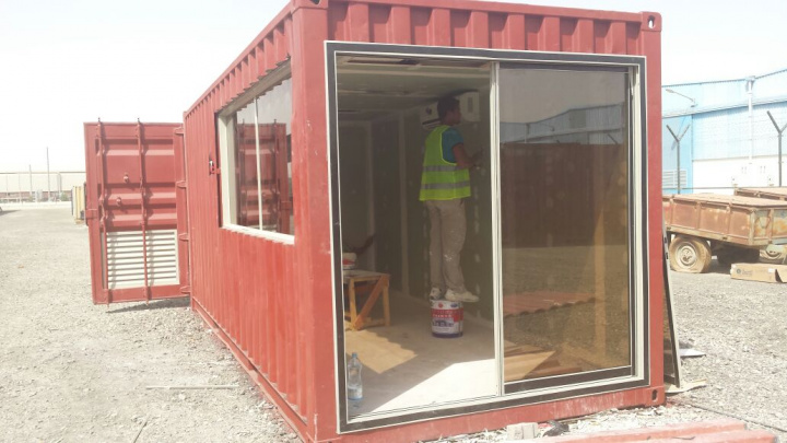 29 Emiratis are converting four containers into bus stops under DP World's supervision