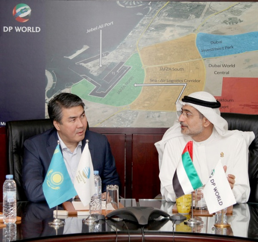 DP World Group CEO Mohammed Sharaf met with the Kazakhstan Minister for Investment and Development, Mr. Asset Issekeshev and senior officials to discu